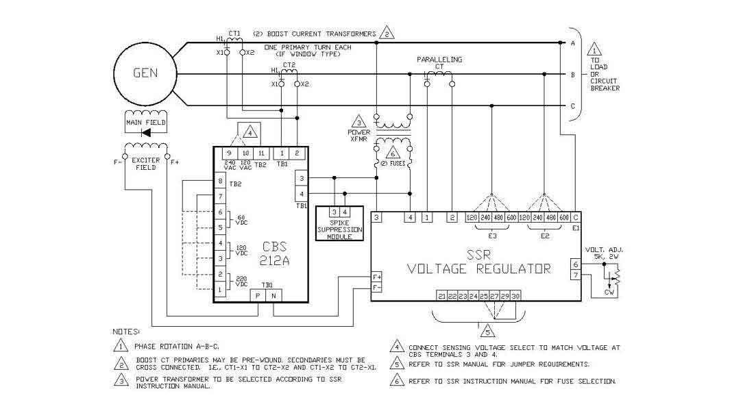 CBS 212A, Current Boost System - Basler Electric   Basler Generator Wiring Diagram      Basler Electric