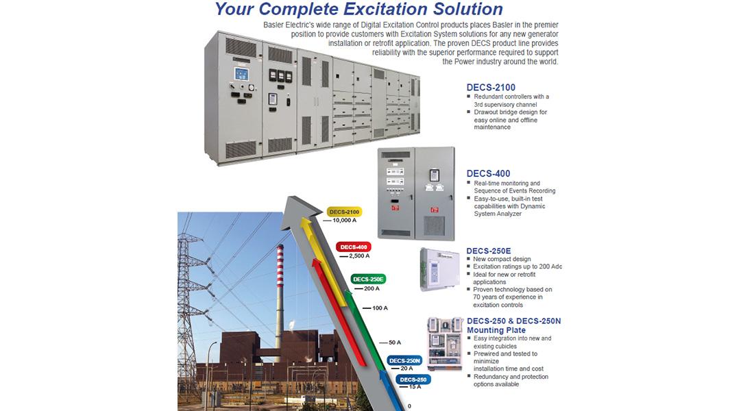 DECS Digital Excitation Control Systems - Basler Electric